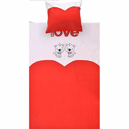 Parure de lit pour enfant - Multicolore - 200 x 140 cm - Taie d'oreiller 50 x 70 cm - Coton - Taille de lit enfant