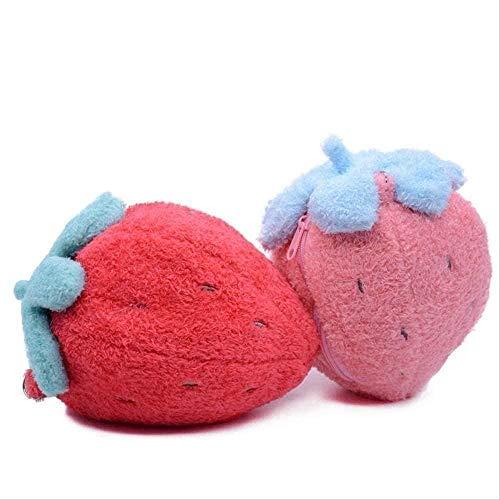 NC87 Peluche de 22 cm de Felpa con Forma de Fresa, Billetera, Maleta Llena de Hermosos Regalos románticos para niños, Rojo