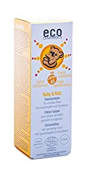 eco cosmetics baby sun cream SPF45, waterproof, vegan, without microplastics, natural cosmetics for face and body, 1 x 50ml