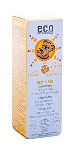 Eco Cosmetics Crème solaire babysun LSF/SPF45 Grenade et Argousier 50ml