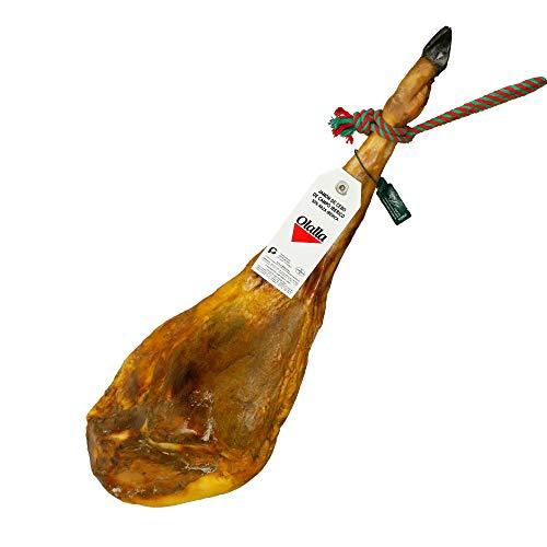 Jamon de Cebo de Campo Iberico 50{1696bad83aeaa756868f0625ebcd86f907b0617b99b0365ddf660e71239d80e8} Raza Iberica - Jamon Iberico de Elaboracion Artesanal - Embutidos Ibericos de Bellota - Pieza Tradicional Completa (6.5 - 7 kg)