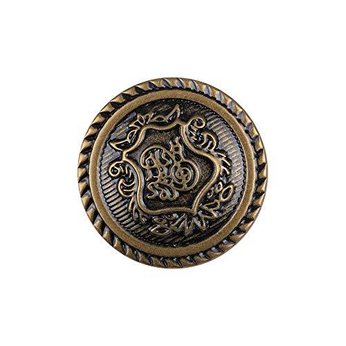 12PCS bronzo antico modello inciso bottoni in metallo per Blazer Suit, 18 mm