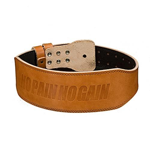 FSJKZX Cinturón de fitness para levantamiento de pesas, de piel, deportivo, para hombres y mujeres, cinturón de entrenamiento profesional de levantamiento de pesas (color: marrón, tamaño: XL)