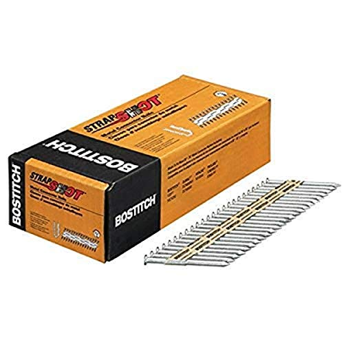 BOSTITCH Metal Connector Nails, Paper Tape Collated, 500-Pack (PT-MC14825G.5M)