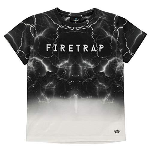 Firetrap Ragazzo Sub T-Shirt Maglietta Manica Corta Lightening 4-5 Anni