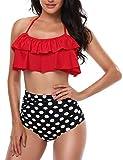 heekpek Costume da Bagno Donna Vita Alta Bikini Imbottito Swimsuit Capestro Brasiliano Bal...
