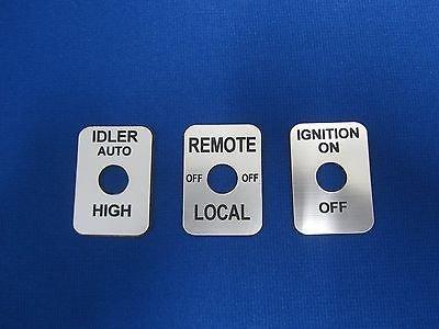 Lot Lincoln Welder Sa-200 Sa 250 Toggle Switch Legend Plate Silv
