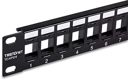 TRENDnet 24-Port Blank Keystone 1U Patch Panel, TC-KP24, 1U 19