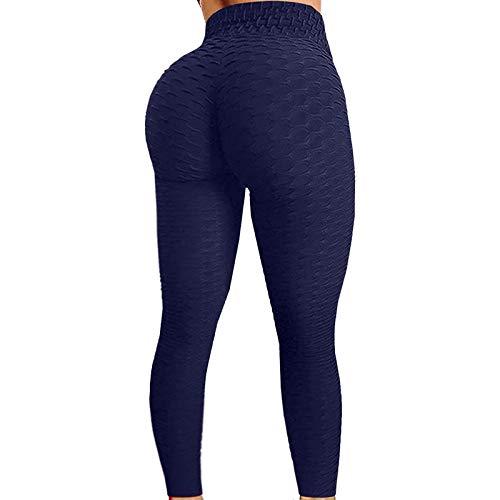 YXYH Mujeres Sin Costura Pantalones Yoga Hacer Subir Entrenamiento Polainas Leggings Fitness Leggins Pantalon Deporte Yoga Rutina Ejercicio Leggins Ropa Fitness (Color : Dark Blue, Size : Small)