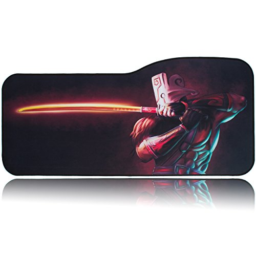 BRILA Extended Mouse pad - Curve Design Gaming Mouse pad - Stitched Edges & Skid Proof Rubber Base - 29' x 13.8' x 0.12' X-Large Mouse Keyboard Desk Mat for Computer (Jugg)