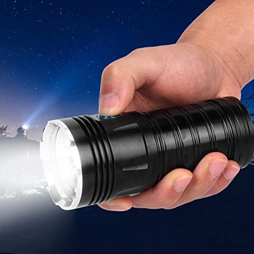 Luz brillante Antorcha Linterna USB Linterna recargable P50LED Lámpara Perla Portátil Recargable Ligero para Camping Senderismo Emergencia