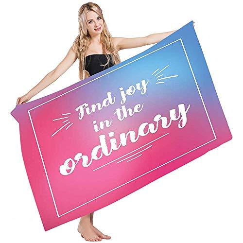 Toalla De Piscina Joy Find Joy En The Ordinary Inspirational Frase In A Frame On Blending Colors Absorbency Toallas De Baño Hoja De Baño Yoga Golf Cabello Toalla De Mano Toalla De Playa Nadar 8