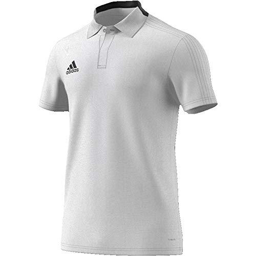 adidas Herren Condivo 18 Poloshirt, White/Black, S