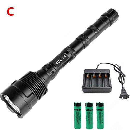 C, 11 T6 : 12 x XML-T6 20000 lm LED Lampe torche 5 modes Lanterne Lanterne 3 x 18650 Batterie
