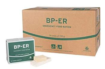 Emergency Food, Nourriture d'urgence BP ER Elite 24 unités de 500 grammes Nourriture Longue durée pour Le Plein air, Le Camping et Les Situations de Crise (sans BPA et Halal) LOT 2020