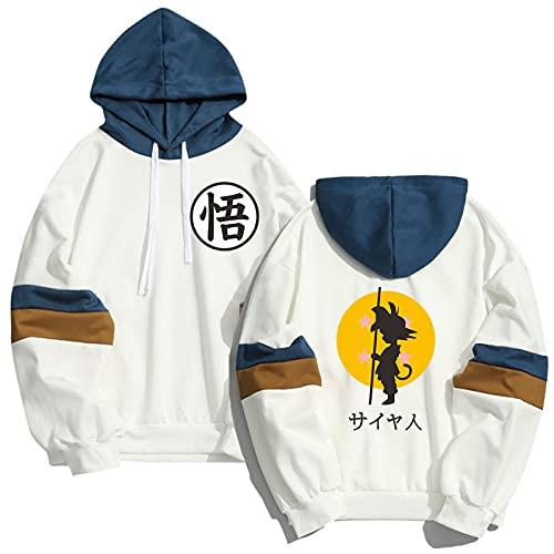 NC Hombres De Primavera Y Otoño Goku Street Hip-Hop Sports Dragon Ball Costura Sudadera con Capucha Suéter...