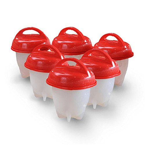 Egg Cooker Hard & Soft Maker Egg Cooker,BPA Free, Non Stick Silicone, As Seen On TV (6PACK) - coolthings.us