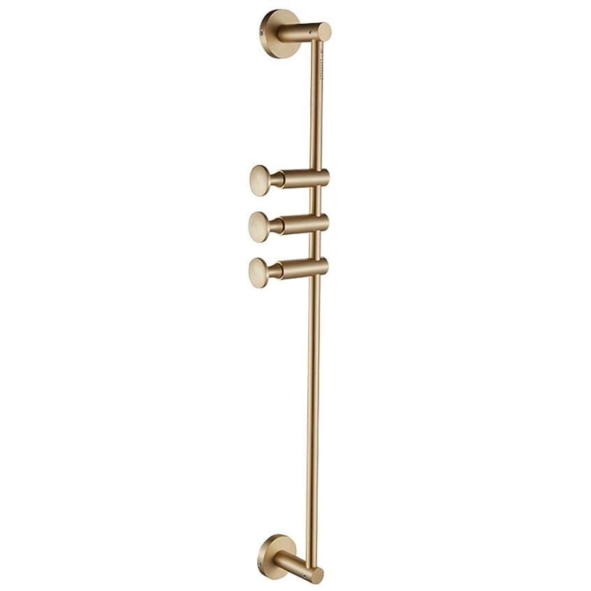 留まる加入筋肉の壁に取り付けられたコートラック、真鍮コートフック壁マウントタオルラック黄金服フック棚壁の寝室のポーチのために調節可能 (Size : 3 hooks)