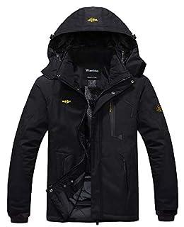 Wantdo Men's Mountain Waterproof Ski Jacket Hood Winter Snow Coats Black 3XL (B071NTK5K1) | Amazon price tracker / tracking, Amazon price history charts, Amazon price watches, Amazon price drop alerts