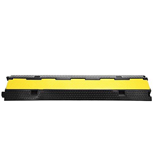 Guellin 3x2 Pasacables de Suelo para Proteger las Cables Protector de PVC y Caucho para Cable de Suelo de 2 Vías Soporta 11000 LB(5000KG)(3 x Protector de cable de 2 canales)