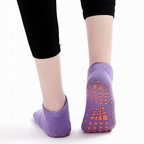 NO LOGO BenedictGladysd Yoga Socken New entwickeln Solid Color Ankle Grip Socken for Männer und Frauen Cotton Non-Slip Gripper Slipper Socken Großhandel Chaussettes de Yoga (Color : J)