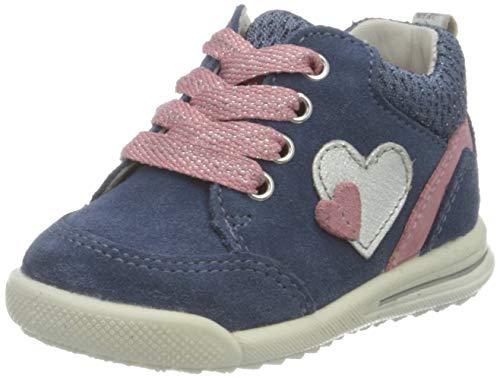 Superfit Avrile Mini Sneaker, BLAU/ROSA, 23 EU