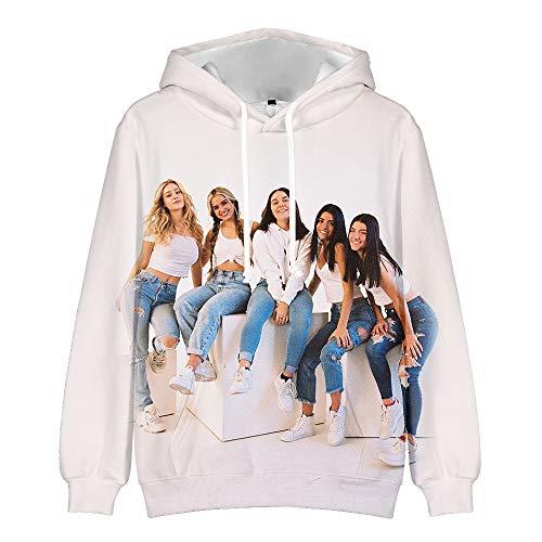 WAWNI 2020 The Hype House 3D Hoodies Charli D'Amelio Sweatshirts Herren Damen Print Addison Rae Hoodies Pullover Unisex Harajuku Trainingsanzug Gr. XS, 6