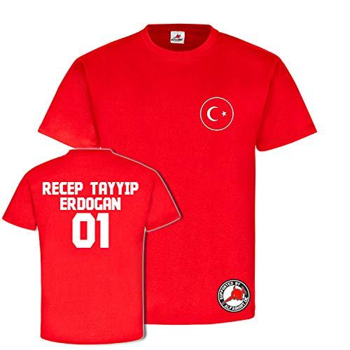 Copytec Recep Tayyip Erdogan Trikot Türkei Turkie Osmanen Fun Spass Stolz Türkiye Ankara Wm Anatolien #23863, Größe:L, Farbe:Rot