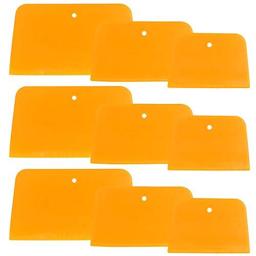 SourceTon 9 Stück Karosseriefüller Spachtel Auto Karosserie Spachtel 10,2 cm, 12,7 cm, 15,2 cm, wiederverwendbar Kunststoff Spreader zum Auftragen von Spachtelmasse, Lasuren, Fugen und Farbe