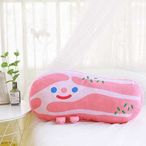 Kawaii Bacon Almohada de Felpa Colgante Suave Lindo cojín Relleno Cerdo Vientre muñeca niños Juguetes 23cm Tocino