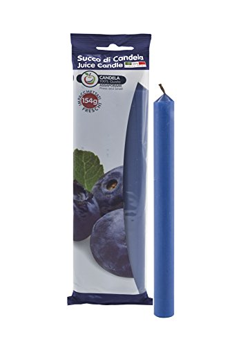 Cereria di Giorgio Succo Candele Profumate alla Frutta, Cera, Blu Scuro, 1.9x1.9x20 cm, 3 unità