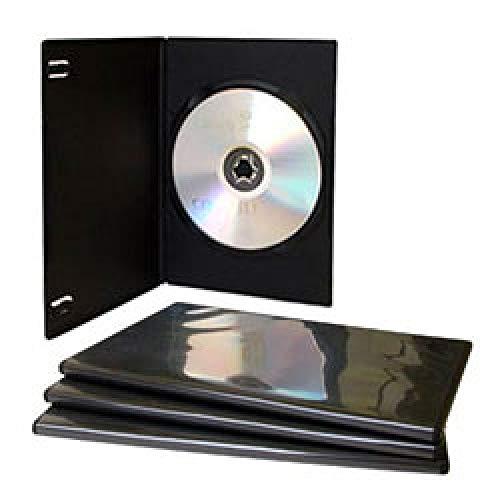 MediaRange DVD Caja vacía 100pcs Soltero Delgado Grueso Negro