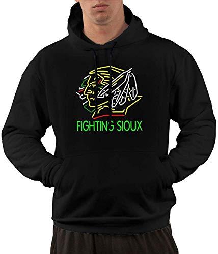 Pzrruot Mannen Fleece Pullover Hoodie Print Vechten Sioux Sportkleding