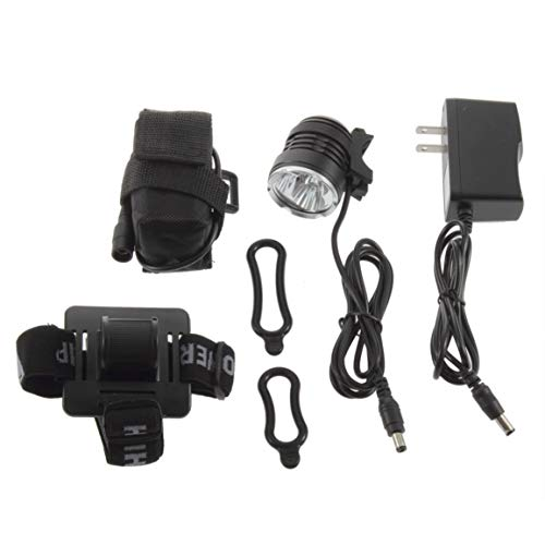 Sanzhileg 8.4V imperméable à l'eau en Plein air vélo lumière Lampe de Poche tête lumière 3 Ampoule T6 LED