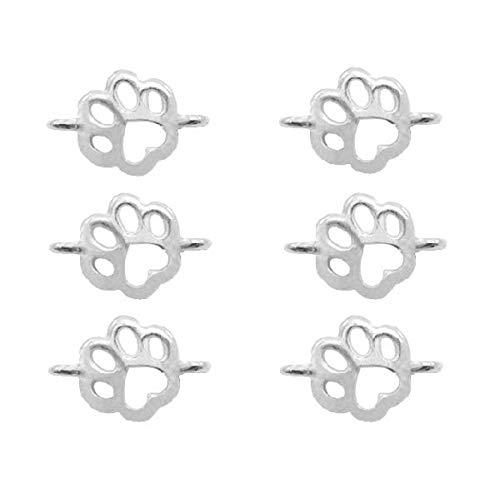 Sadingo Conectores de joyas con forma de huella de perro, huellas de gato, pulsera intermedia, joyas...