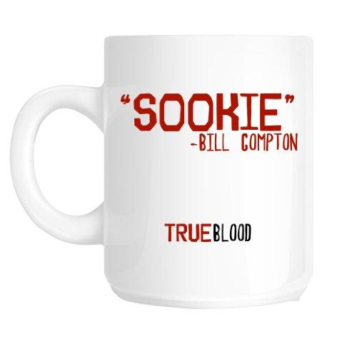 Taza de desayuno de'Sookie–Bill Compton de True Blood