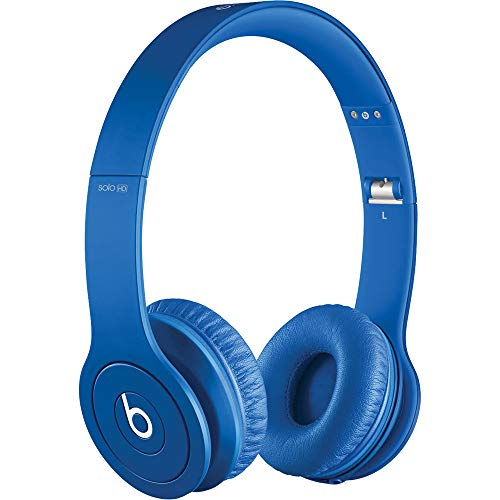 Beats by Dr. Dre Solo HD Drenched in Blue Wired On Ear Headphones (Renewed)