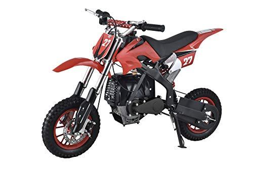 Se7en 40CC 4-Stroke Gas Powered Scooter Mini Dirt Bike,Pit Bike Dirt Off Road Motorcycle (Red)