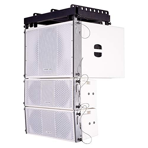 Sound Town ZETHUS Series Line Array Speaker System with One 15-inch Powered Line Array Subwoofer, Two Compact 2 X 8-inch Line Array Speakers, White