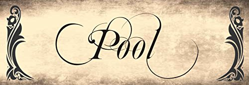Creativ Deluxe Pool/Metallschild/Blechschild/Dekoschild/Wandschild/wetterfest/Innenbereich/Außenbereich/Motivation/Vintage