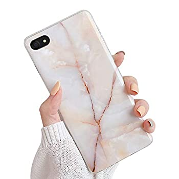 Oihxse Compatible pour Huawei Mate 20 Lite Coque Marbre Motif Stitching Crystal Ultra-Mince Protection Housse en Silicone TPU Souple Flexible Bumper Anti Choc Etui Case (Blanc)