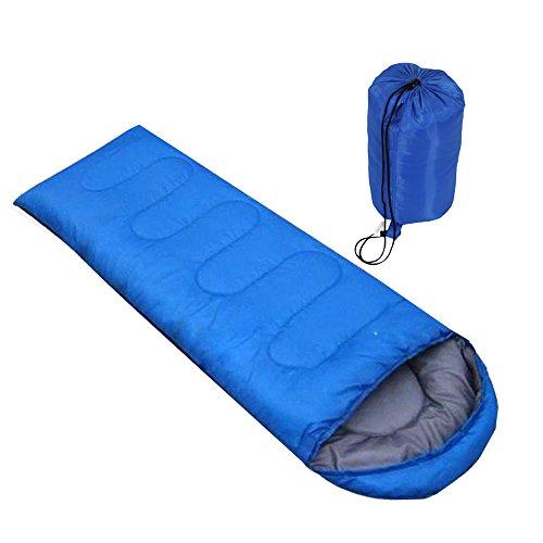 Suyi Wasserdichte tragbare leichte 3/4 Saison rechteckige Mama Schlafsack Reise Wandern Camping Backpacking Gear Kompression Sack Single Blau