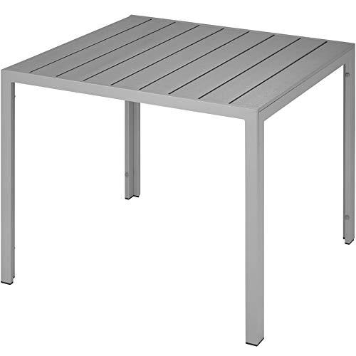 TecTake 800587 - Mesa de jardín Maren, Aluminio, Ligera, Estable, Versátil - Varios Modelos (Tipo 2 | No.402955)