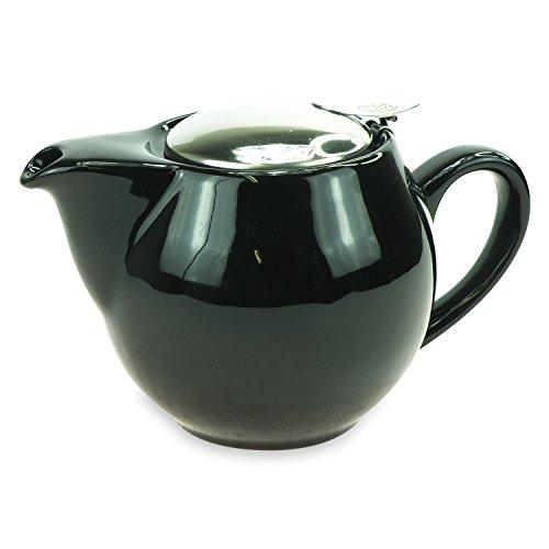ExtraMaritim Tetera de porcelana 'Saara' negra con filtro de 0,5 l