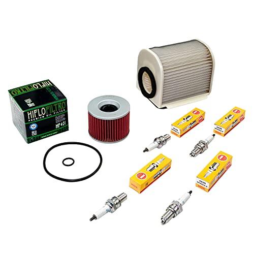 Wartungspaket Luftfilter + Ölfilter + Zündkerzen für Yamaha XJR 1200 XJR 1300 XJR1200 XJR1300 Baujahr 1995-2006