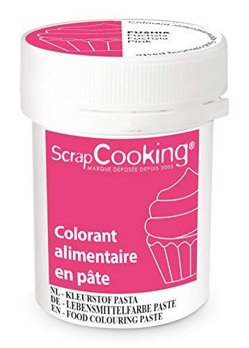 Scrapcooking Colorant en Pâte Fuchsia 20 g