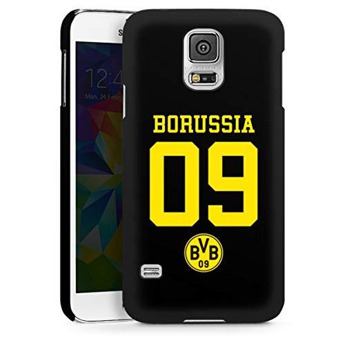 DeinDesign Hard Case kompatibel mit Samsung Galaxy S5 Schutzhülle schwarz Smartphone Backcover Borussia Dortmund BVB Trikot
