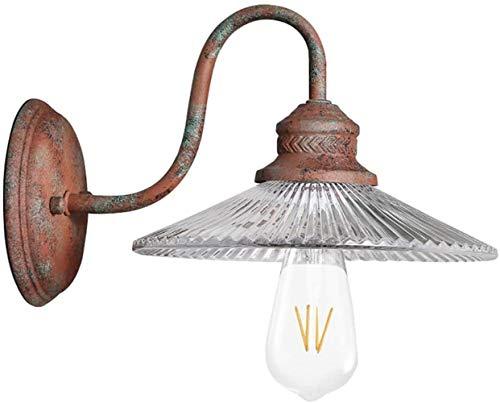 Single Head Retro doen de oude smeedijzeren Glazen wandlamp, Loft TV achtergrond Light Wind industrie, for woon/eetkamer/slaapkamer