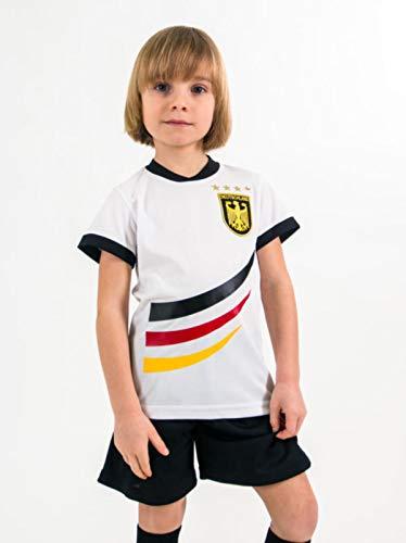 Trikotset Trikot Kinder 4 Sterne Deutschland Wunschname Nummer Geschenk Größe 98-176 T-Shirt Weltmeister 2014 Fanartikel EM