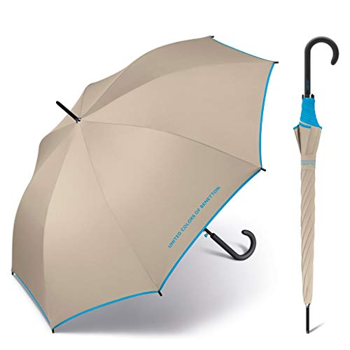 Paraguas Benetton automático Beige 102cm